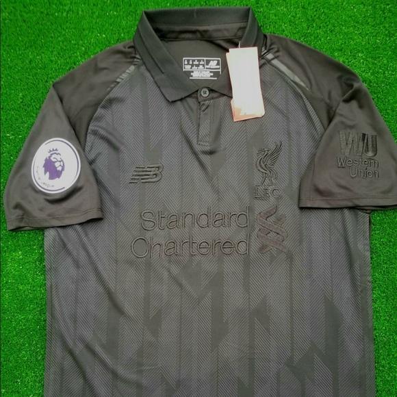 128e59843 18 19 Liverpool FC 4th Kit soccer jersey blackout